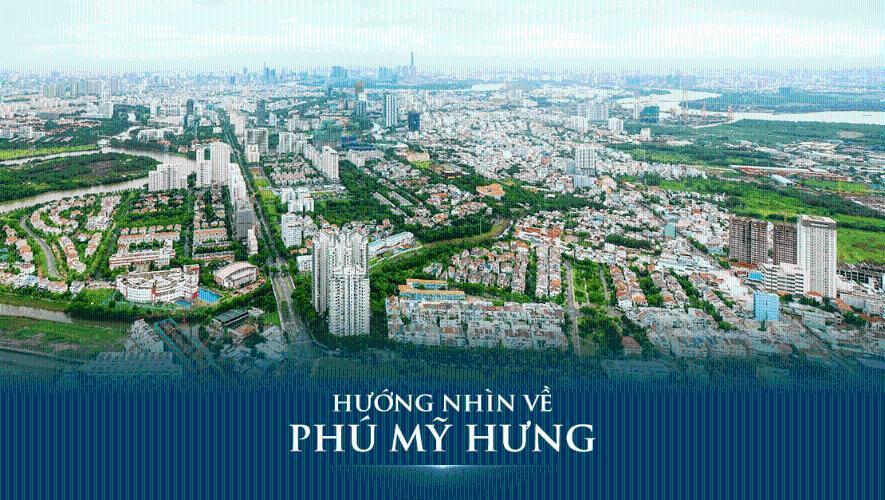 view căn hộ Q7 Boulevard Bán căn hộ Q7 Boulevard, ban công hướng Bắc nhìn về khu Phú Mỹ Hưng.