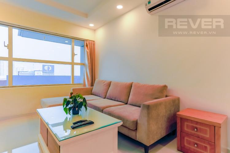 Phòng Khách Căn hộ Sunrise City 1 phòng ngủ tầng thấp X1 nội thất đơn giản