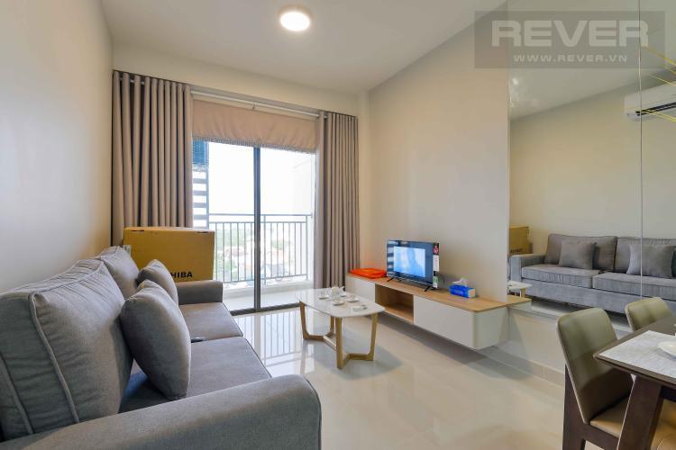 Phòng khách Cho thuê căn hộ The Sun Avenue 2PN, block 6, đầy đủ nội thất, hướng Đông Nam đón gió