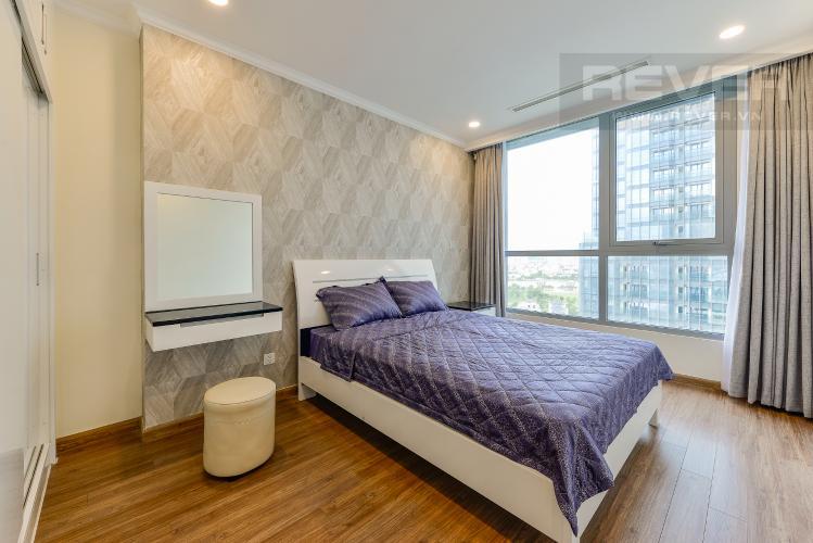 Phòng ngủ 3 Căn hộ Vinhomes Central Park tầng trung, tòa Landmark 6, 4 phòng ngủ, full nội thất