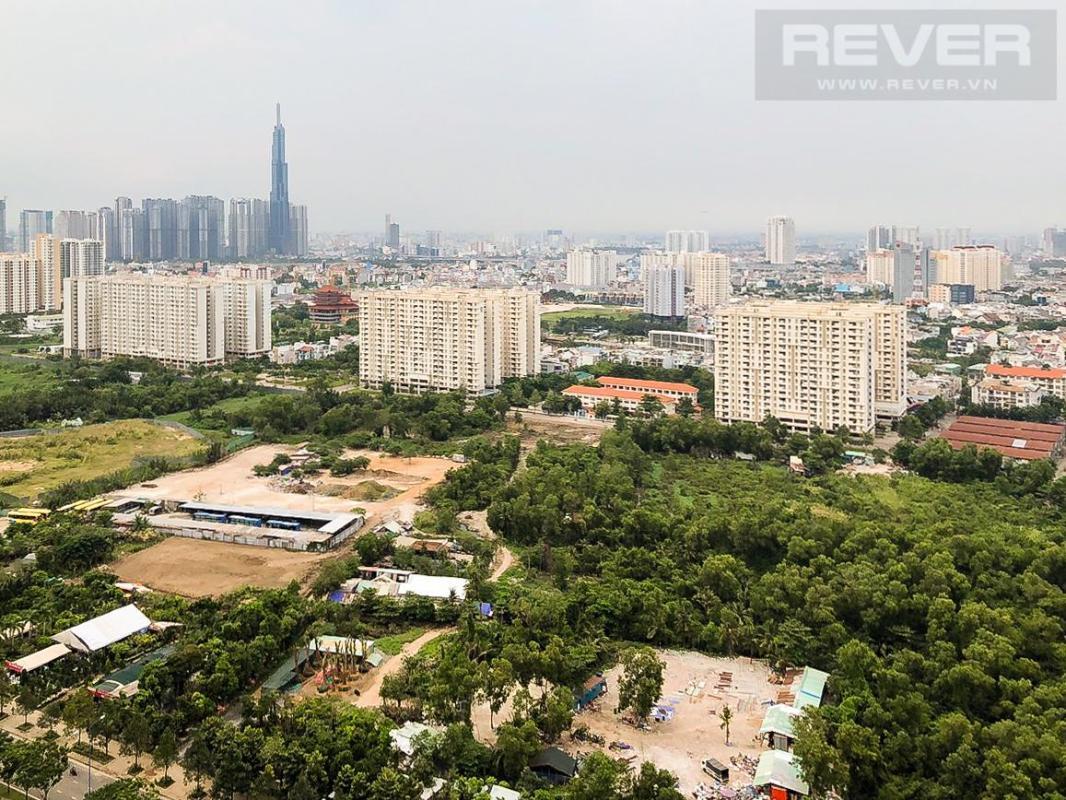 View Cho thuê căn hộ The Sun Avenue 2PN, tầng cao, đầy đủ nội thất, view Landmark 81