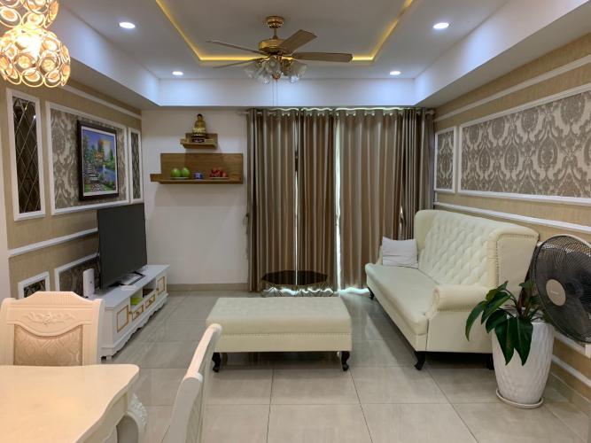 Phòng khách , Căn hộ The Krista , Quận 2 Căn hộ chung cư The Krista cửa chính hướng Nam, đầy đủ nội thất hiện đại.