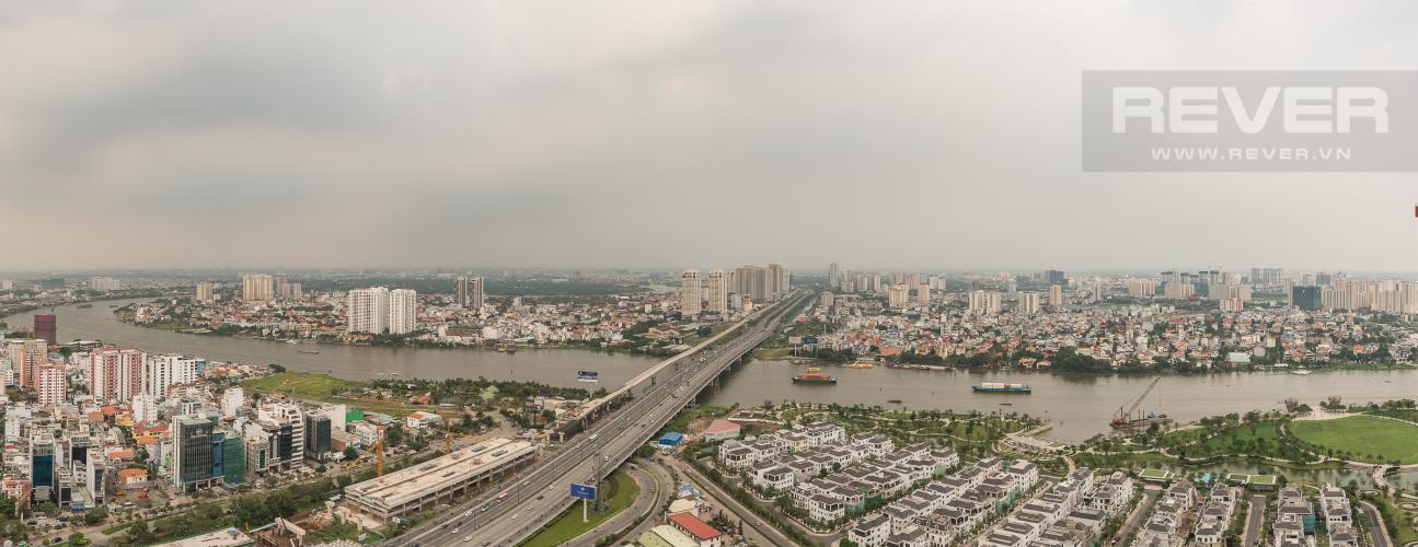 View Cho thuê căn hộ Vinhomes Central Park tầng cao 2PN view sông