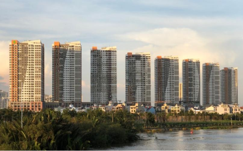 Tòa nhà căn hộ The Sun Avenue Bán căn hộ The Sun Avenue tầng cao, đầy đủ nội thất, view Landmark 81.