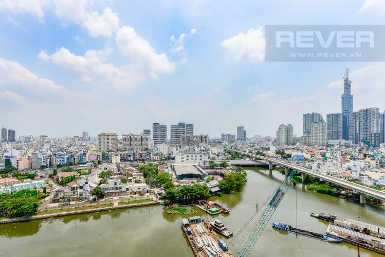 View Officetel Vinhomes Golden River 2 phòng ngủ tầng trung A3 view sông