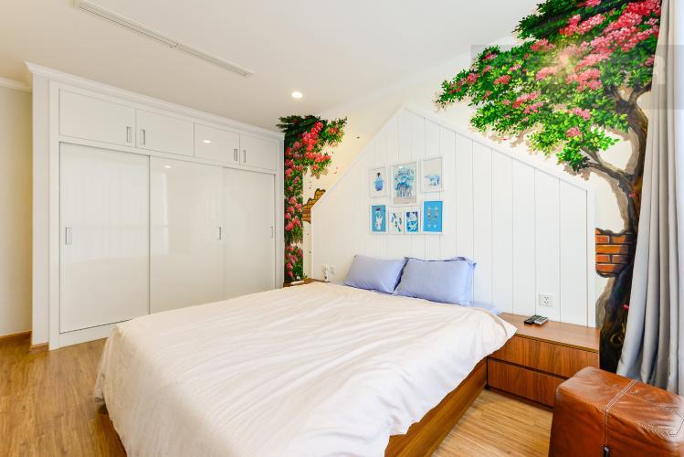 Phòng ngủ 2 Căn góc Vinhomes Central Park 3 phòng ngủ tầng cao L1 đầy đủ nội thất