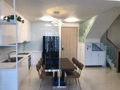 Cho thuê căn hộ duplex Estella Heights 3PN, tháp T3, diện tích 125m2, đầy đủ nội thất, view Xa lộ Hà Nội