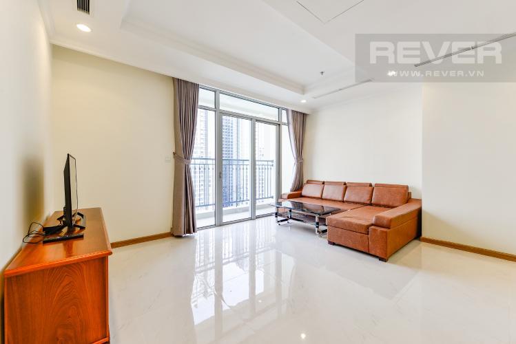 Phòng khách Căn hộ Vinhomes Central Park 3 phòng ngủ tầng cao C3 đầy đủ nội thất