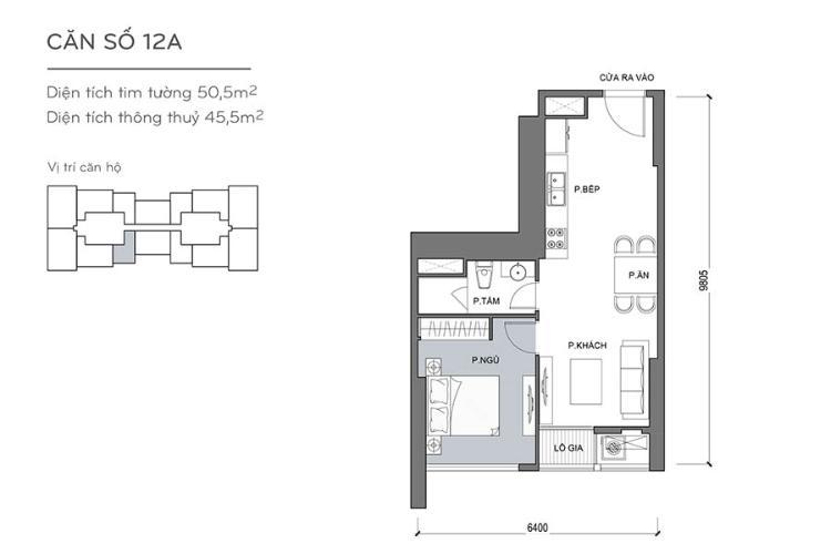 Căn hộ 1 phòng ngủ Officetel Vinhomes Central Park 1 phòng ngủ tầng thấp Landmark 4