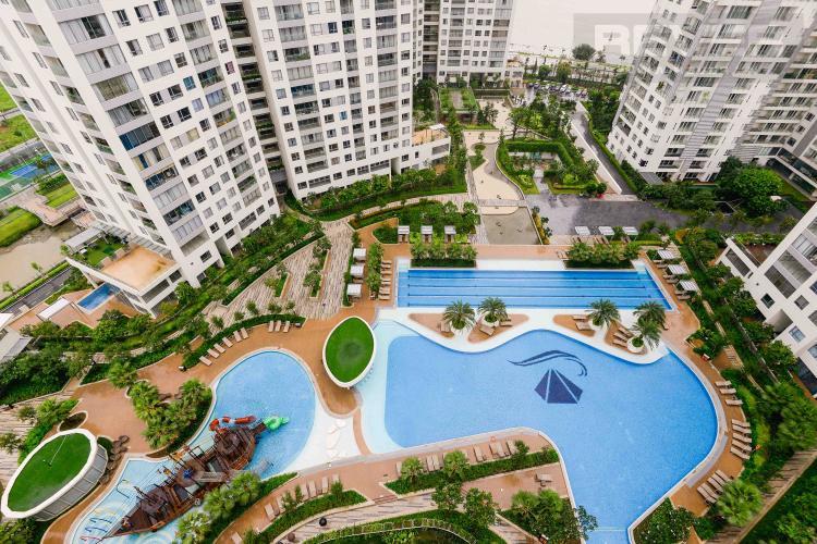 View Cho thuê căn hộ tháp Diamond Island - Đảo Kim Cương 3PN, tháp Hawaii, đầy đủ nội thất, view sông và hồ bơi