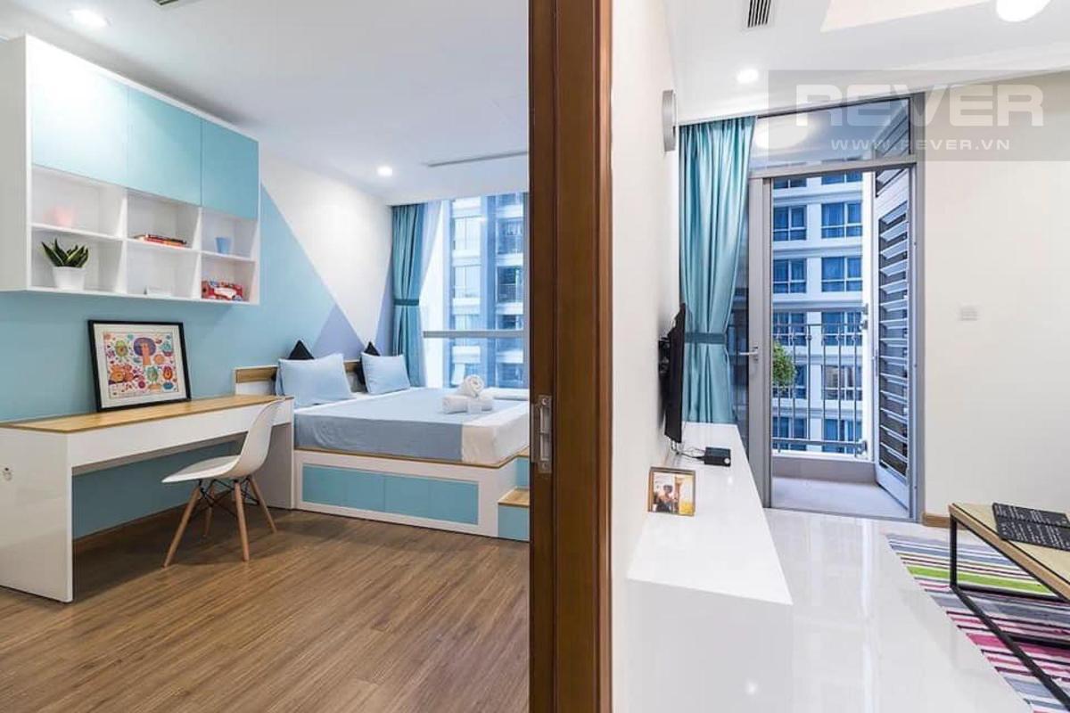 Phòng ngủ Bán căn hộ 1 phòng ngủ Vinhomes Central Park, tháp Landmark 5, đầy đủ nội thất, ban công Đông Bắc thoáng mát