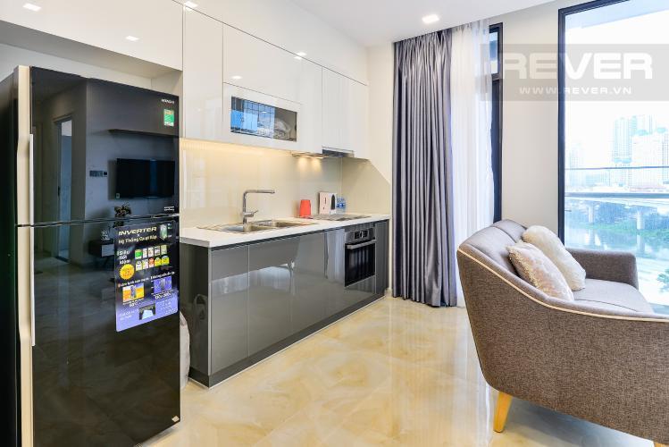 Nhà Bếp Officetel Vinhomes Golden River tầng thấp, 2 phòng ngủ, full nội thất