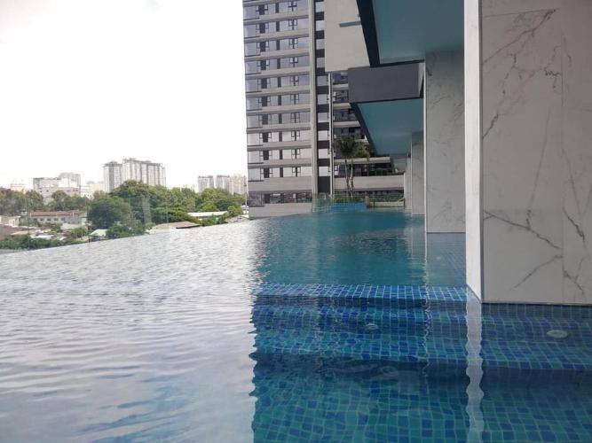 Hồ bơi Kingdom 101, Quận 10 Căn hộ Kingdom 101 tầng cao, nội thất cơ bản.