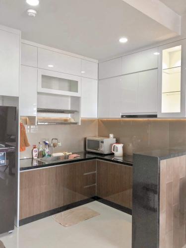 Bếp căn hộ The Sun Avenue Căn hộ The Sun Avenue view Landmark 81, đầy đủ tiện nghi.