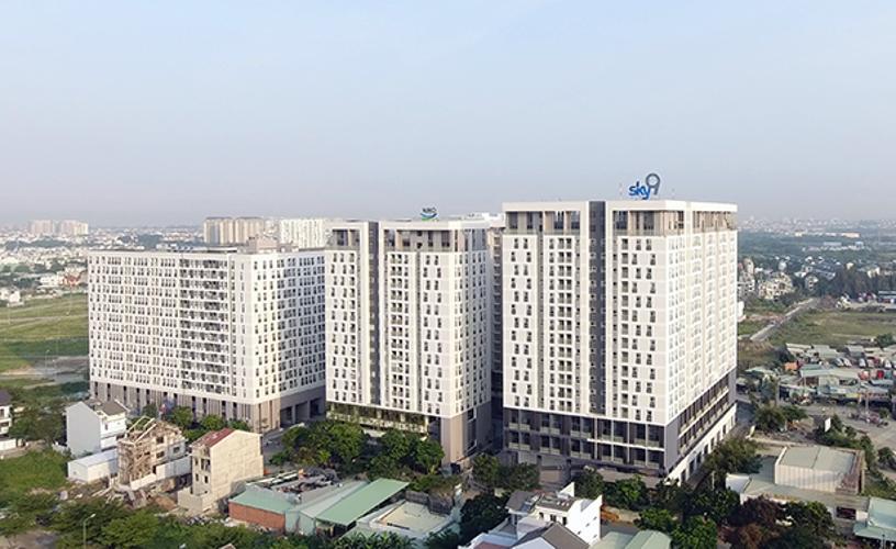 Chung cư Sky 9 Shop-house chung cư Sky 9 diện tích 80m2, kết cấu 1 trệt 1 lửng.