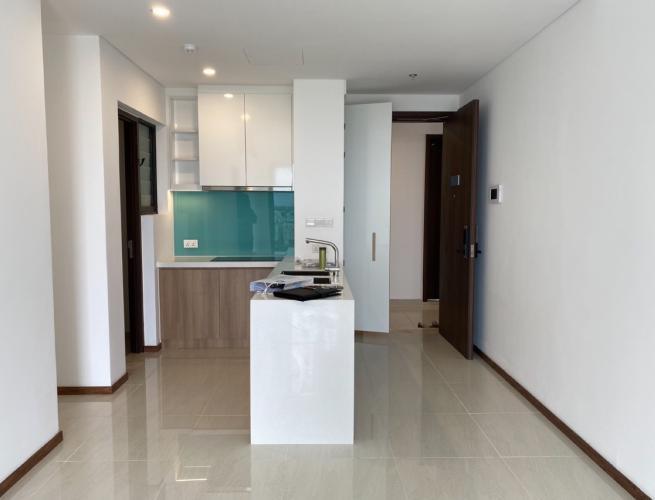 Phòng khách và bếp One Verandah Quận 2 Căn hộ One Verandah tầng trung, view sông và thành phố.