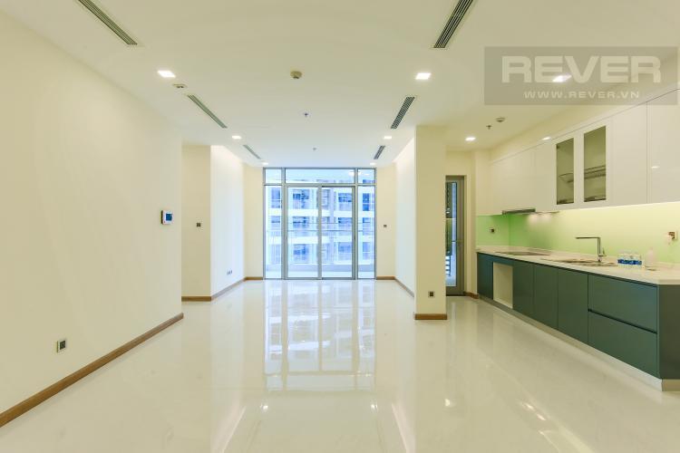 Phòng Khách Căn hộ Vinhomes Central Park tầng thấp Park 2, 3 phòng ngủ, view sông
