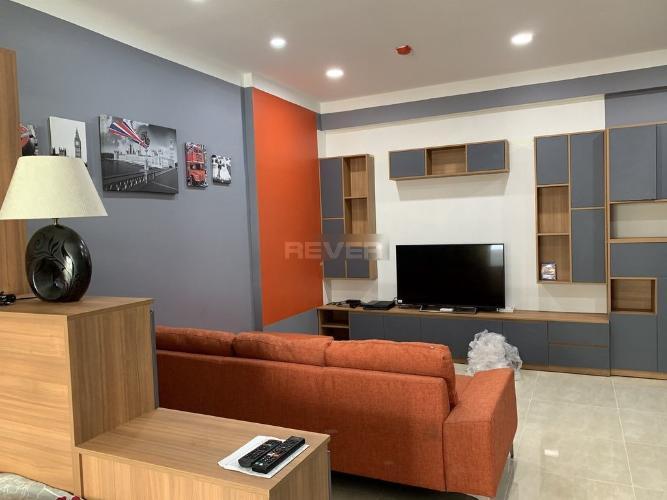 Phòng khách căn hộ Heaven Riverview, Quận 8 Căn hộ Heaven Riverview tầng trung view thành phố, nội thất đầy đủ.