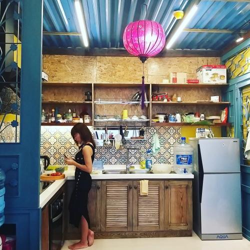 Bếp Căn hộ The Sun Avenue Căn hộ The Sun Avenue đầy đủ nội thất vintage, thiết kế nổi bật.