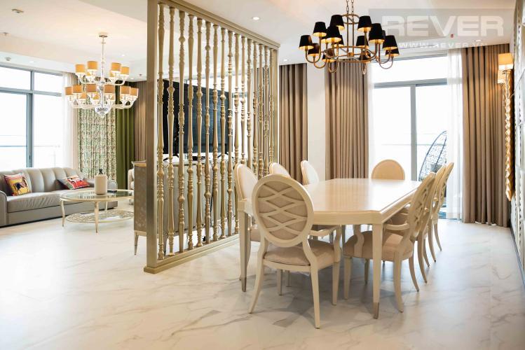 Phòng Khách Căn hộ Vinhomes Central Park tầng cao, 4PN, đầy đủ nội thất