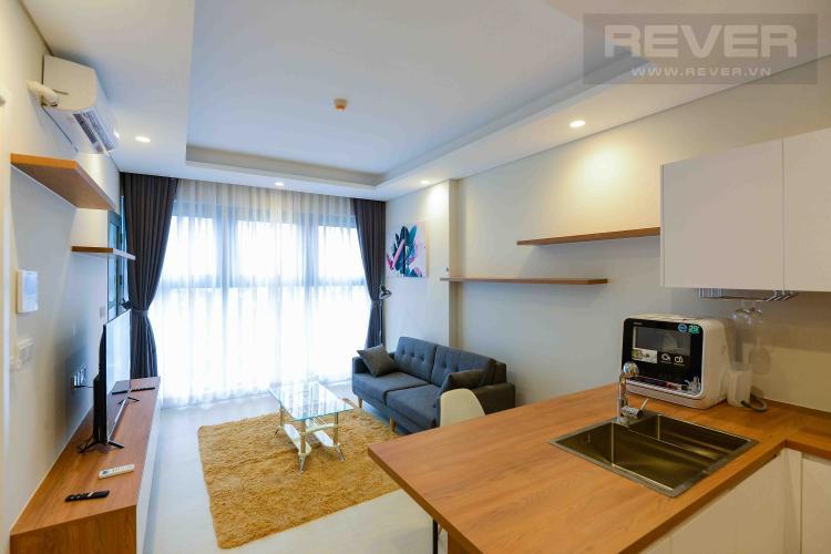 Phòng Khách Cho thuê căn hộ Diamond Island - Đảo Kim Cương 1PN, đầy đủ nội thất, view sông thoáng đãng