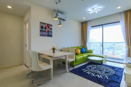 Cho thuê căn hộ Masteri Millennium tầng trung, đầy đủ nội thất, 2PN