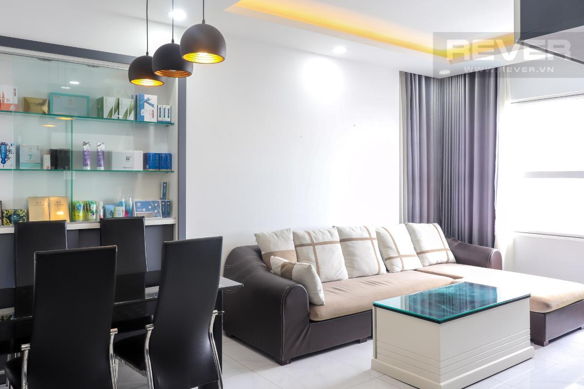 Phòng Khách Cho thuê căn hộ Sunrise City 2PN, tầng trung, tháp X1 khu North, đầy đủ nội thất, diện tích 77m2