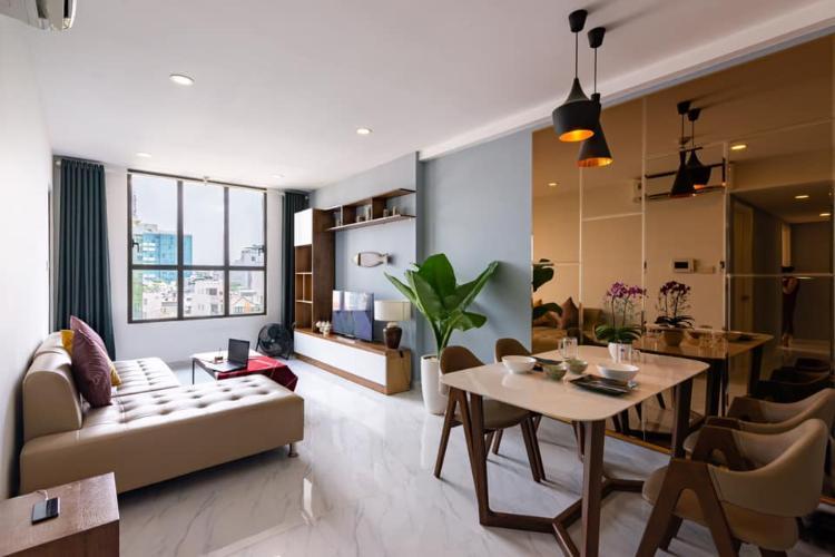 Phòng khách căn hộ ICON 56 Bán căn hộ 3 phòng ngủ Icon 56, tầng thấp, diện tích 88m2, đầy đủ nội thất