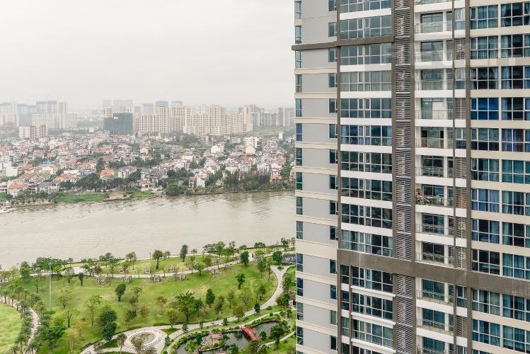 View Căn hộ Vinhomes Central Park 3 phòng ngủ tầng cao L1 view sông