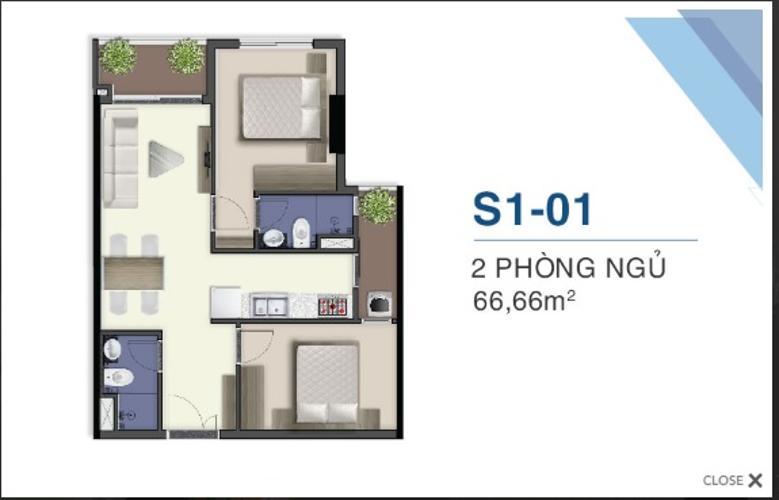 Mặt bằng nội thất Q7 Saigon Riverside Căn hộ tầng cao Q7 Saigon Riverside ban công hướng Bắc