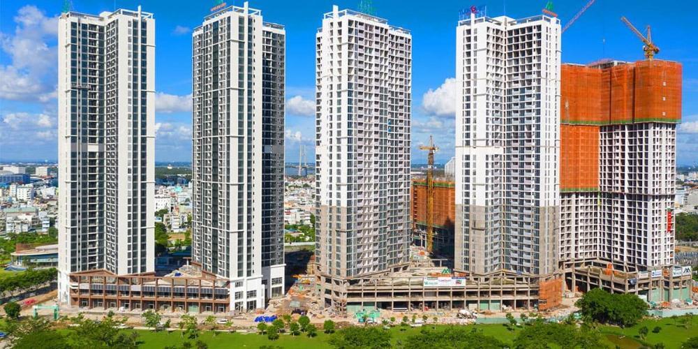 Eco Green Saigon Căn hộ Eco Green Saigon tầng trung, nội thất cơ bản, view thành phố.