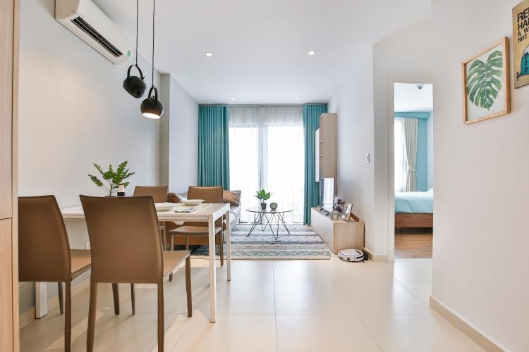Căn hộ M-One Nam Sài Gòn 2 phòng ngủ tầng cao T2 full nội thất
