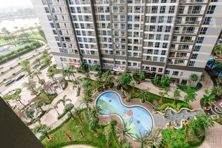 View Căn hộ Vinhomes Central Park 2 phòng ngủ tầng thấp P3 view hồ bơi