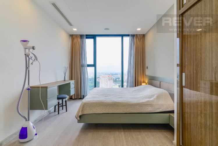Phòng Ngủ 1 Cho thuê căn hộ Vinhomes Golden River tầng cao 3PN đầy đủ nội thất view sông