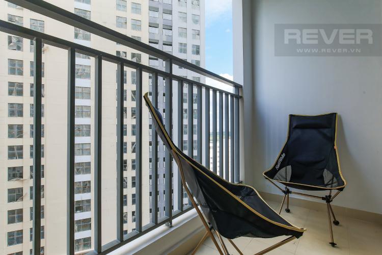 Balcony Căn hộ Masteri Millennium tầng trung, 2PN đầy đủ nội thất