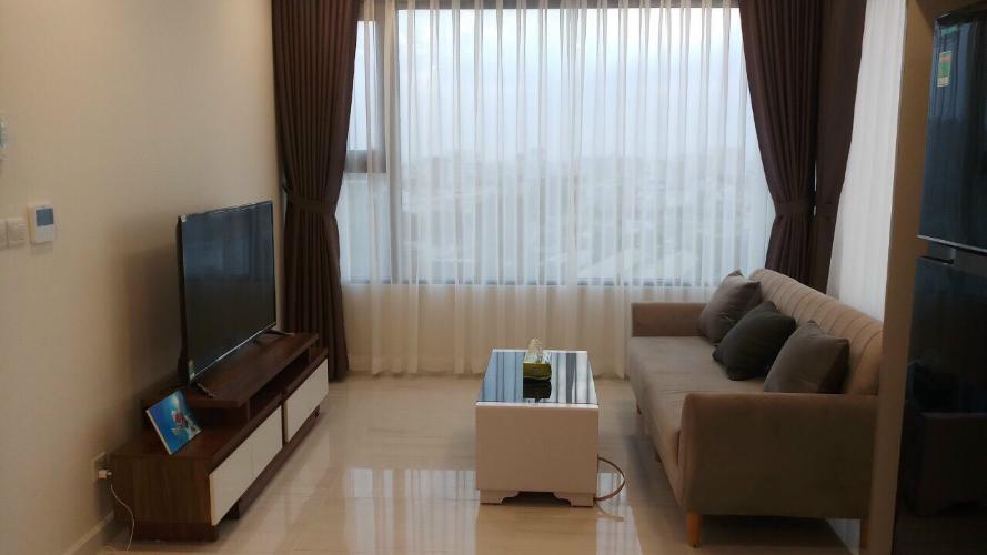 Phòng khách Kingdom 101, Quận 10 Căn hộ Kingdom 101 tầng trung, ban công view thành phố.