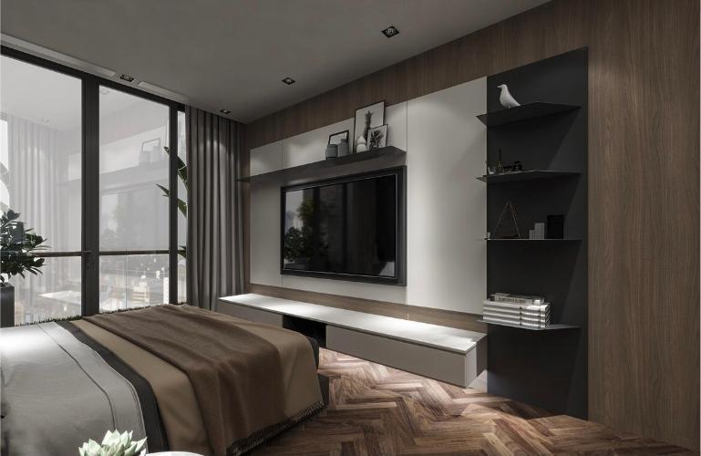 Phòng ngủ Sunshine Diamond River, Quận 7 Căn hộ Sunshine Diamond River tầng thấp, nội thất cơ bản.