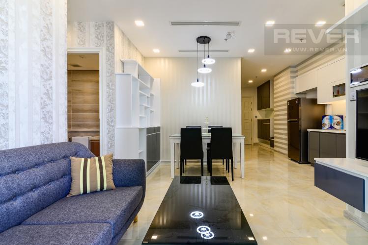Phòng Khách Căn hộ Vinhomes Golden River tầng cao, 2PN, bàn giao đầy đủ nội thất