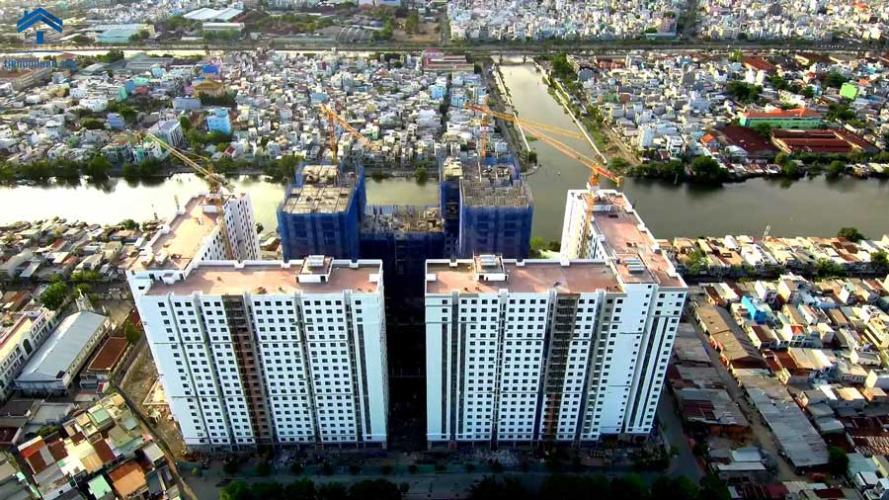 Chung cư Green River, Quận 8 Căn hộ Green River tầng cao ban công hướng Đông Nam, view thành phố.