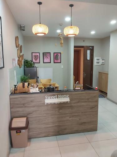 Phòng bếp căn hộ The Gold View Căn hộ The Gold View 3 phòng ngủ nội thất đầy đủ, ban công rộng.