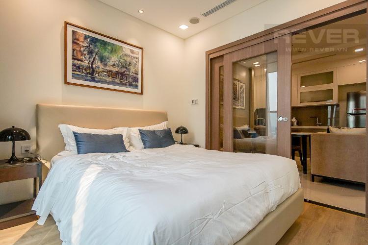 Phòng Ngủ Cho thuê căn hộ Vinhomes Central Park 1PN, diện tích 54m2, đầy đủ nội thất, view thành phố và sông Sài Gòn