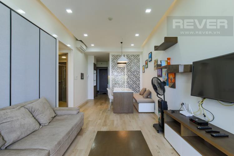 Phòng Khách Cho thuê căn hộ Lexington Residence 2PN, tháp LB, đầy đủ nội thất, view Quận 2 xanh mát
