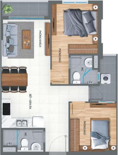 Căn hộ Lovera Vista tầng trung, nội thất cơ bản.