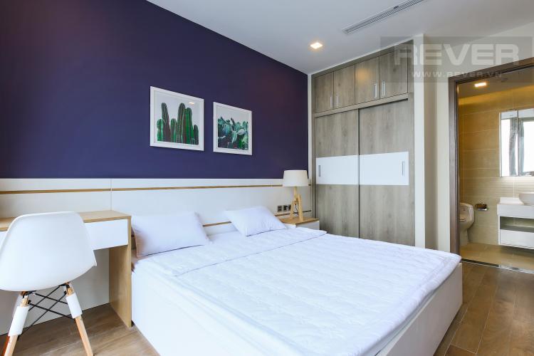 Phòng Ngủ 2 Căn hộ Vinhomes Central Park tầng cao Park 6 đầy đủ nội thất, view sông