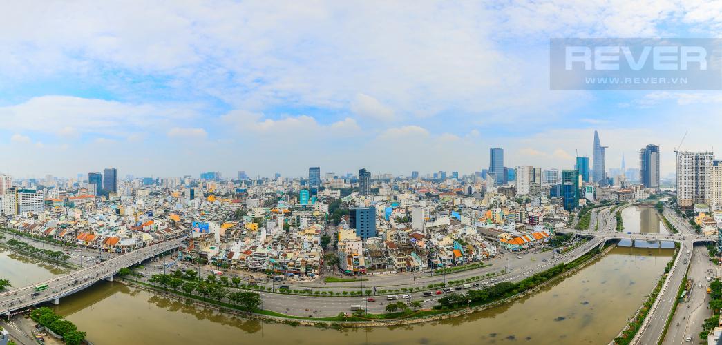 View Cho thuê căn hộ Masteri Millennium tầng cao 2PN đầy đủ nội thất view sông