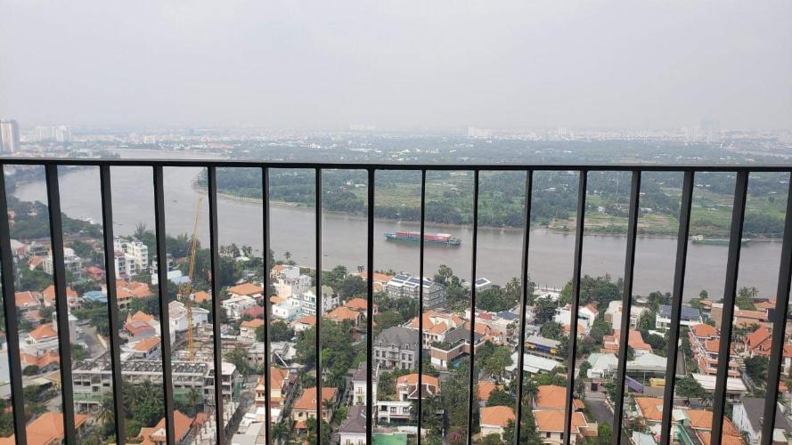 Ban công căn hộ Masteri Thảo Điền quận 2 Căn hộ Masteri Thảo Điền 3 phòng ngủ view sông, nội thất đầy đủ.