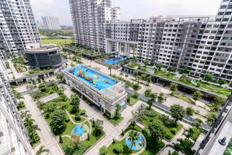 View Cho thuê căn hộ New City Thủ Thiêm tầng trung, 3PN đầy đủ nội thất, view hồ bơi
