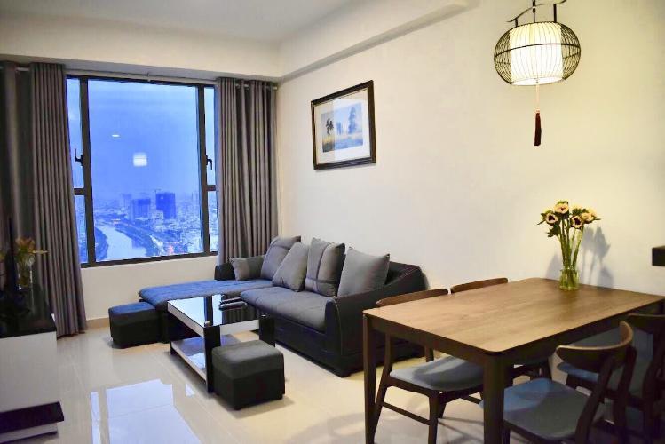Căn hộ Rivergate tầng 22 ban công thoáng mát, đầy đủ nội thất.