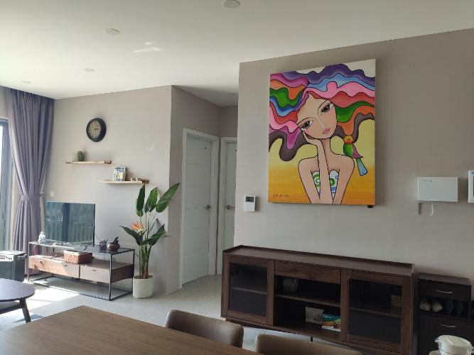 Phòng khách căn hộ Palm Heights Căn hộ Palm Heights đầy đủ nội thất tiện nghi, view thành phố.