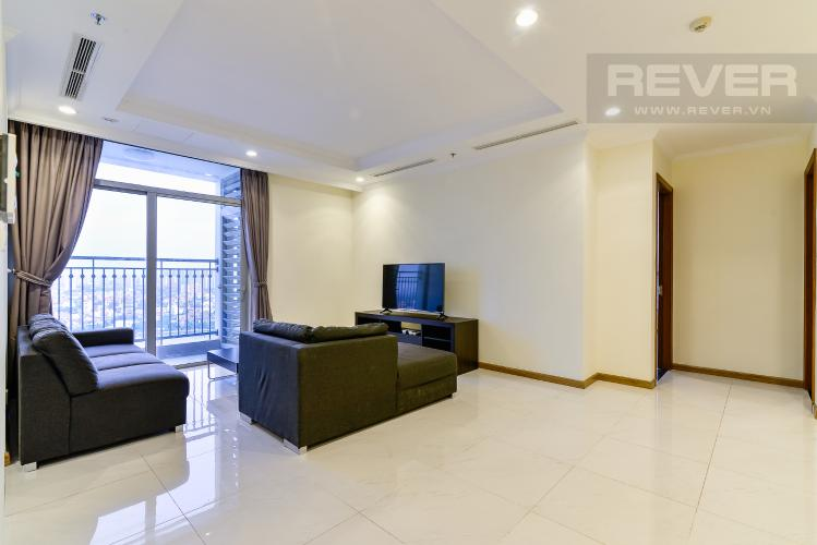 Phòng Khách Căn hộ Vinhomes Central Park 4PN đầy đủ nội thất, view sông Sài Gòn